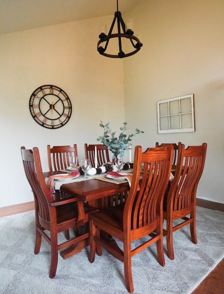 Formal dining room after